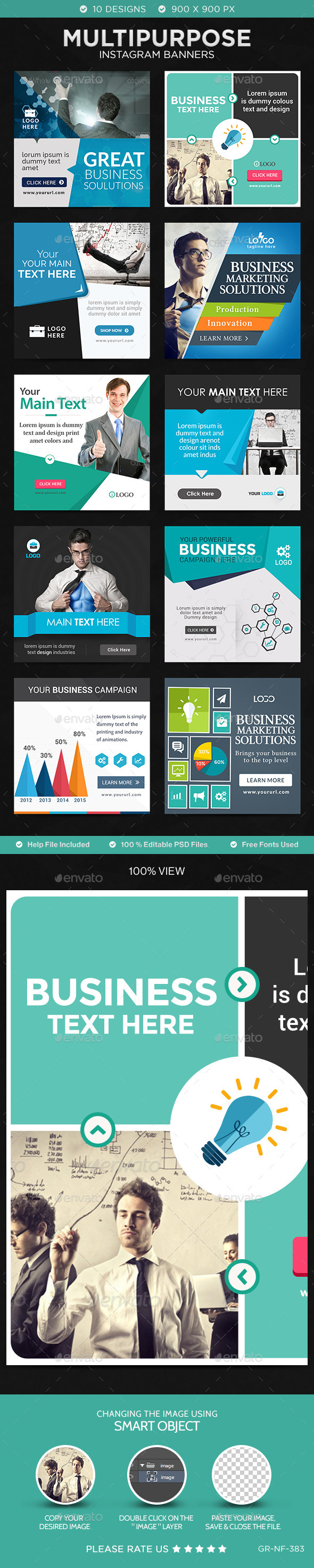 Business Instagram Templates Designs Banners Template And - Instagram ad template