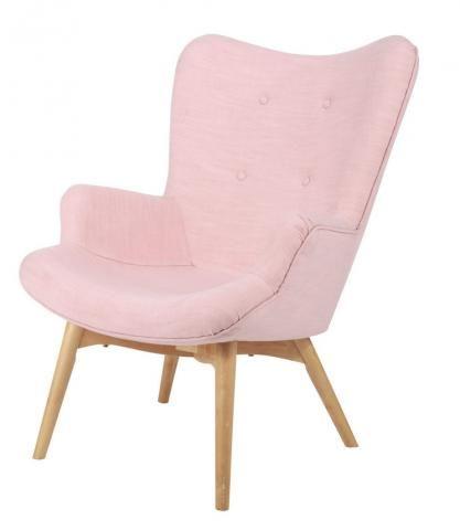 fauteuil vintage en tissu rose iceberg maison du monde. Black Bedroom Furniture Sets. Home Design Ideas