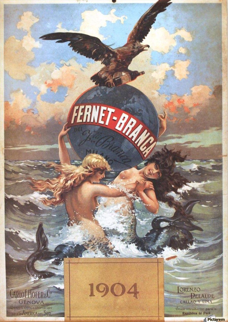Fernet Branca Aperitivo Digestivo Vintage Poster - VINTAGE POSTER ...