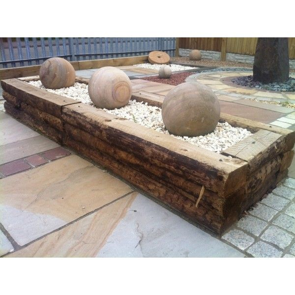 small raised gardens with railway sleepers - Google Search ...
