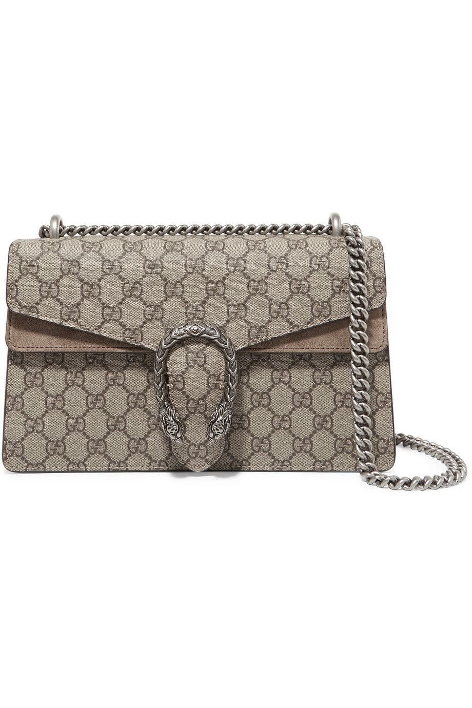 d496dbc4a37c Gucci   Dionysus small coated-canvas and suede shoulder bag    NET-A-PORTER.COM