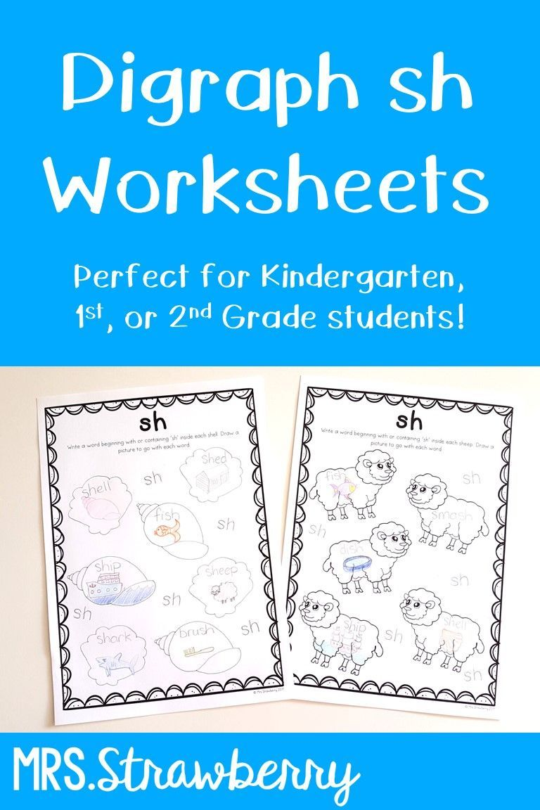 Digraphs sh Worksheets Phonics activities, Teaching