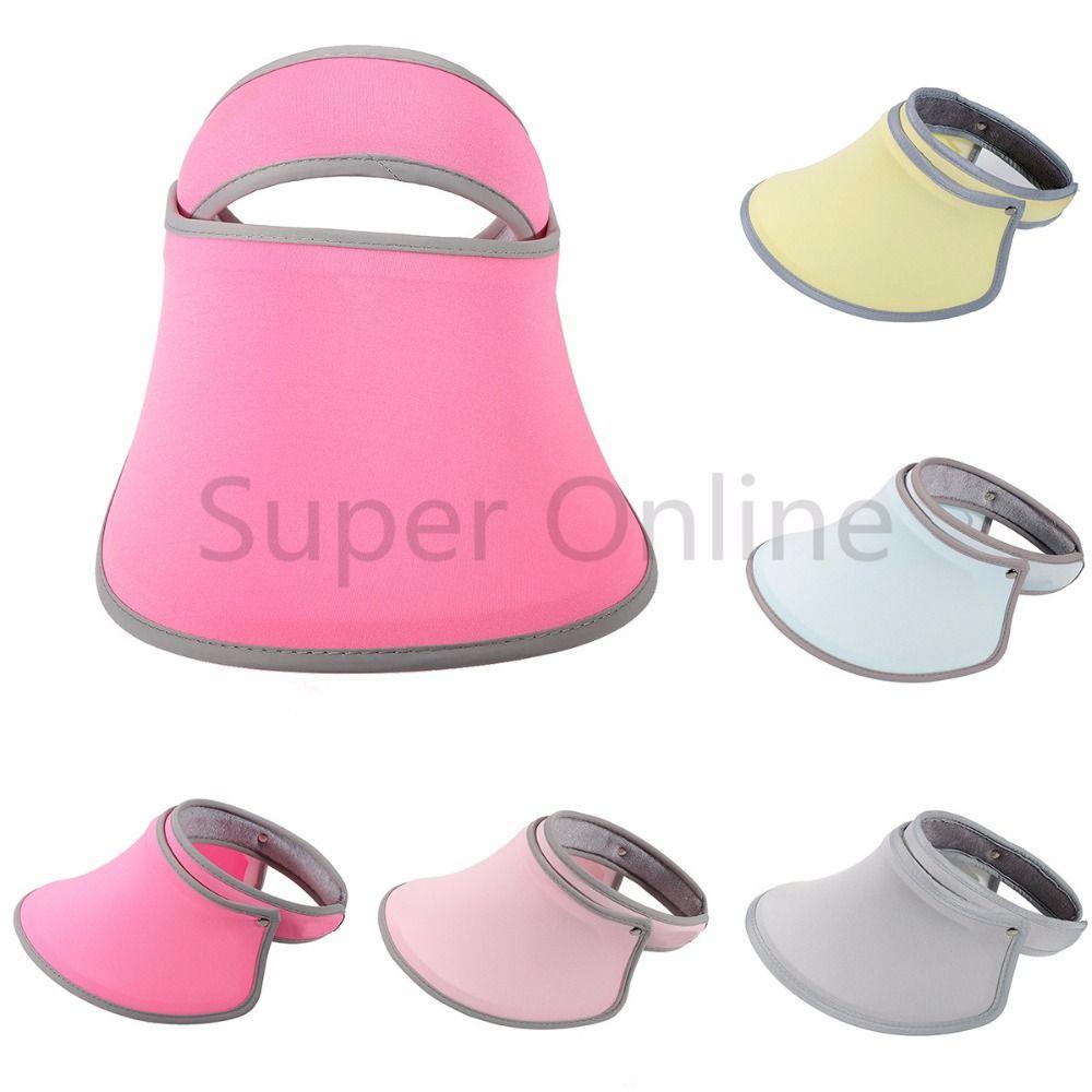 9624a1ee Women Golf Tennis Sports Summer Visors Cap Wide Brim UV Protection Sun  Visor Hat Sunshade Fishing Caps
