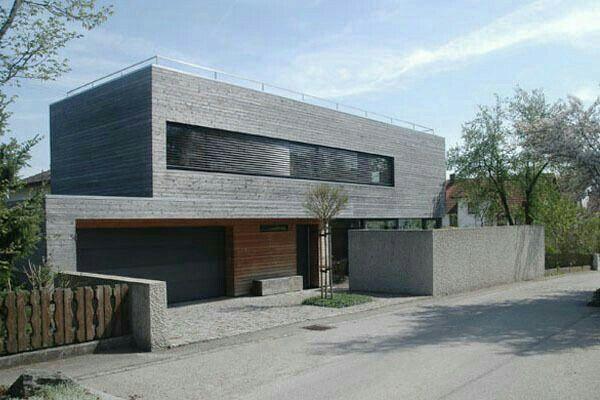 Pin von stefanie ziebert auf haus pinterest - Holzhaus bauhausstil ...