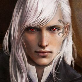 White Haired Elf With Red Eyes