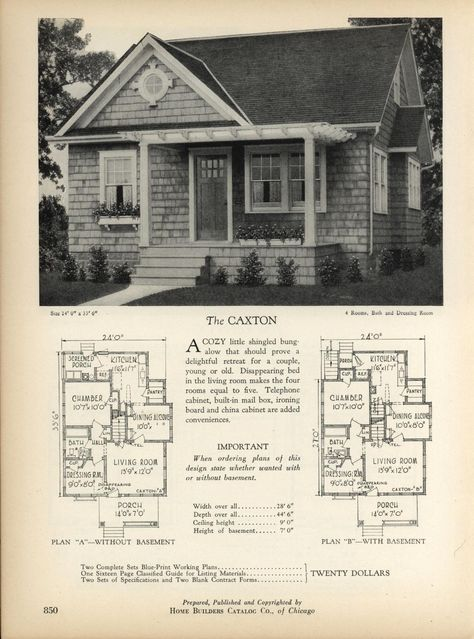 Pin By Wilette Johnson On Small Home Plans Craftsman House Plans House Plans With Pictures Vintage House Plans