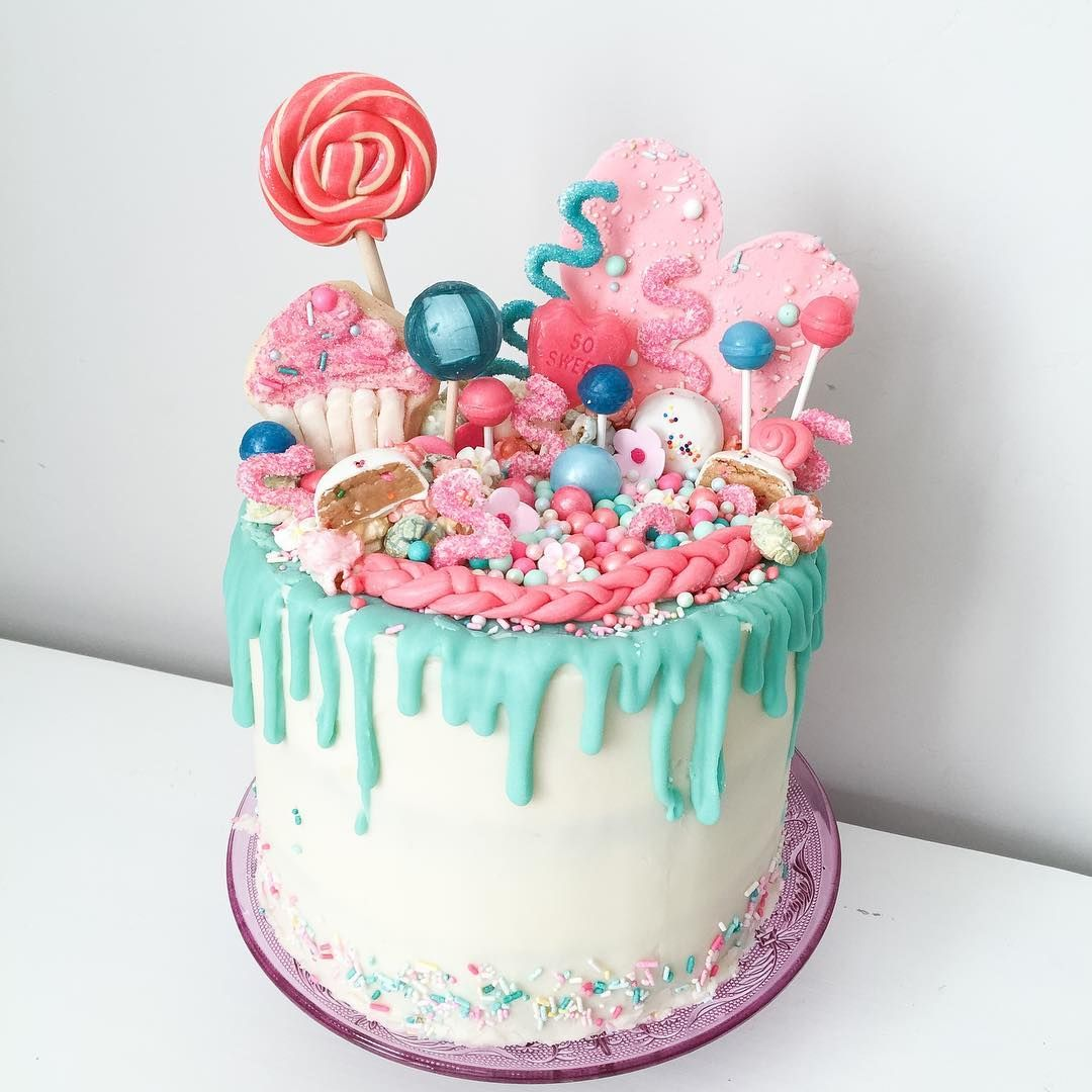 Ice Cream Rainbow Cake With A Barbie On It