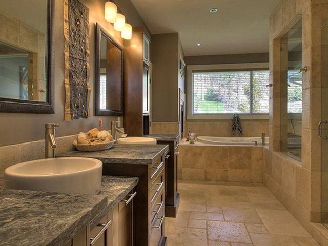 the large closed in shower with a big window. I like that ALOT ... on modern tuscan farmhouse sinks, modern tuscan garden design, modern tuscan house designs, modern bathrooms with large windows,