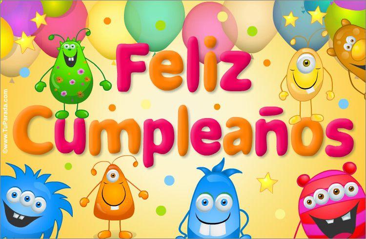 Ecard De Muy Feliz Cumpleaños Cumpleaños Ver Tarjetas Postales Virtuales Tuparada Tarjetas De Cumpleaños Para Niños Feliz Cumpleaños Niña Feliz Cumpleaños