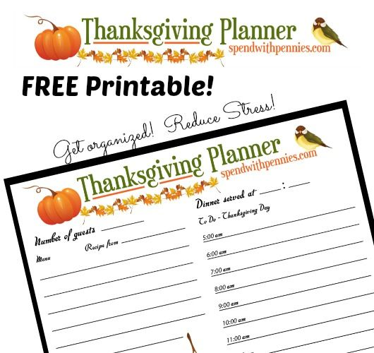 Free Printable Thanksgiving Planner! This Helps Me Feel