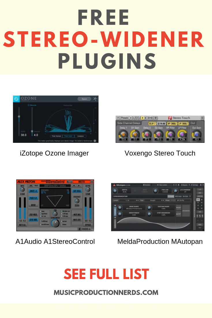 7 Best Free Stereo Widener VST/AU plugins for Budget Music