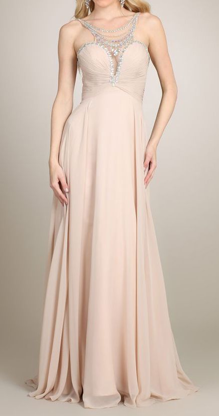 Nude Necklace Gown