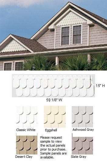 Scallop perfection exterior home siding modern vinyl for Vinyl siding contemporary homes