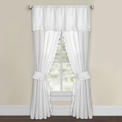 Fresh Ideas Solid Semi Sheer Rod Pocket Curtain Panels Curtains