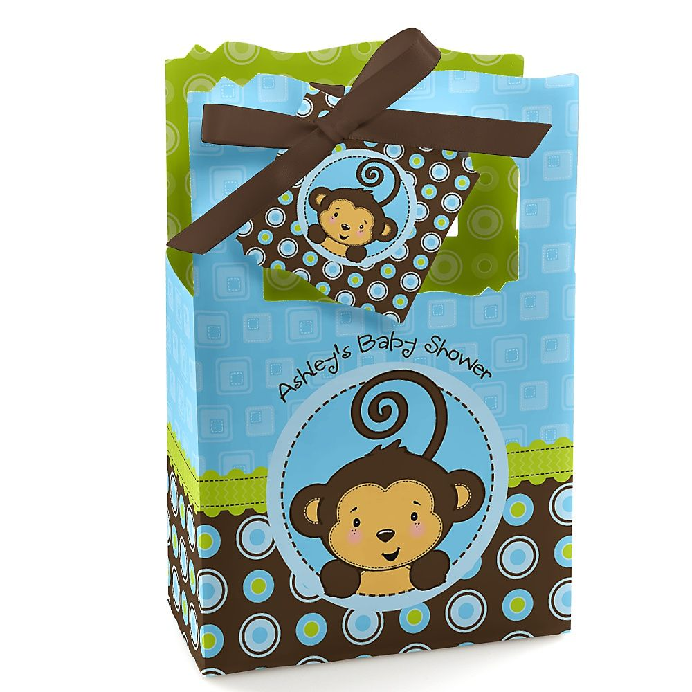 monkey boy personalized baby shower favor boxes baby showers