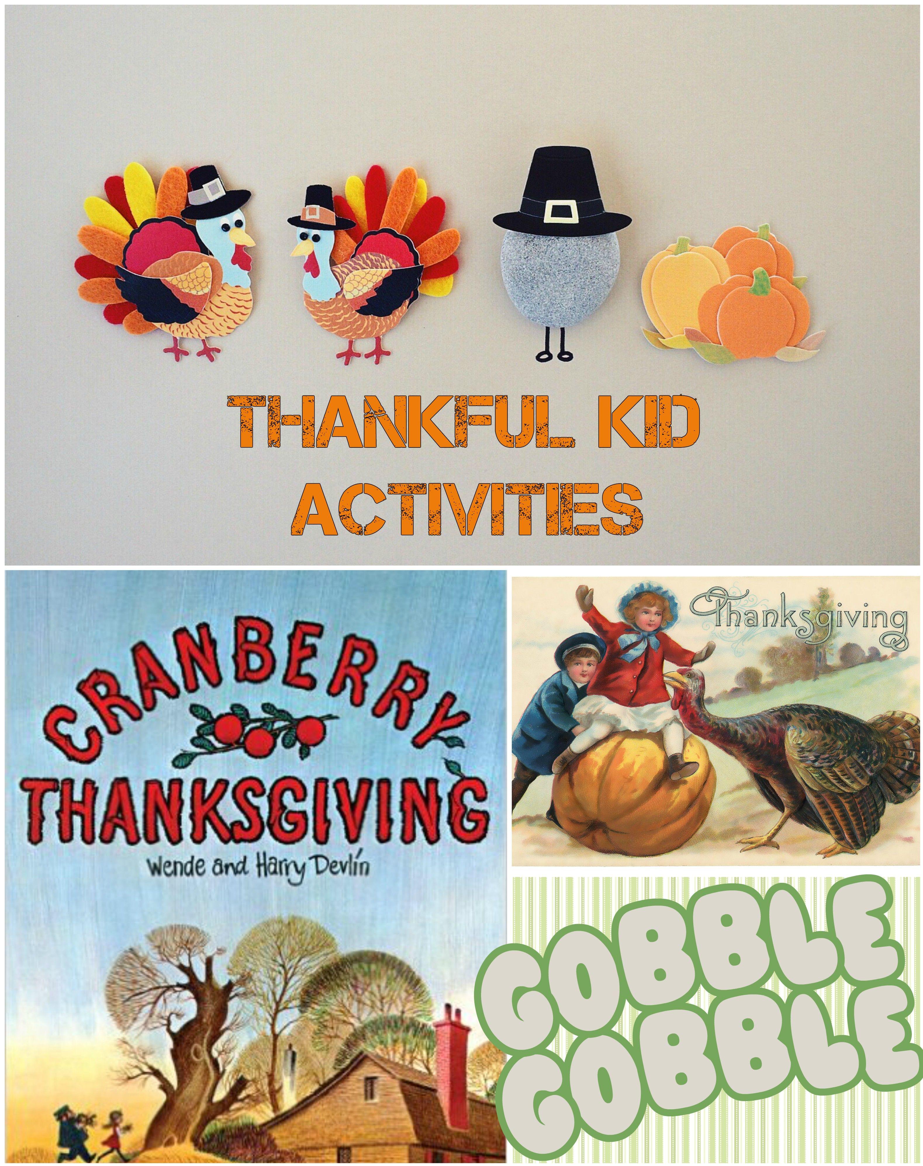 Thankful Kid Activities