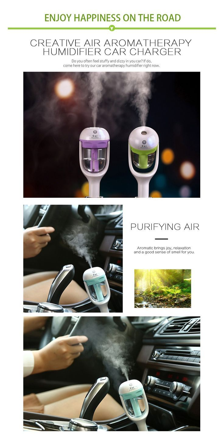 Car Aromatherapy Humidifier Enjoy Happiness on the Road