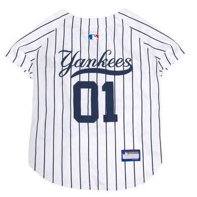 New York Yankees Pets First Pet Baseball Jersey White S