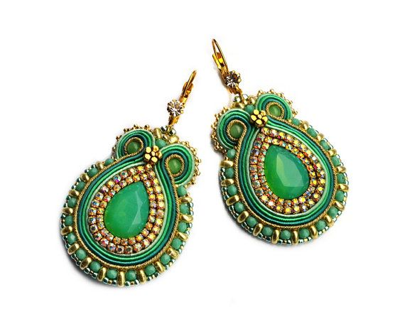 HALF PRICE  SALE  Handmade Soutache earrings  very by rododendron7
