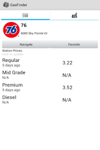 Navigate To Gas Station Near Me >> Click On The Gas Station You Would Like And The Stats Appear