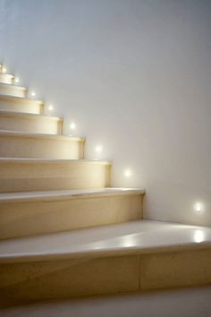 Lighting Stairs With Recessed Step Ights
