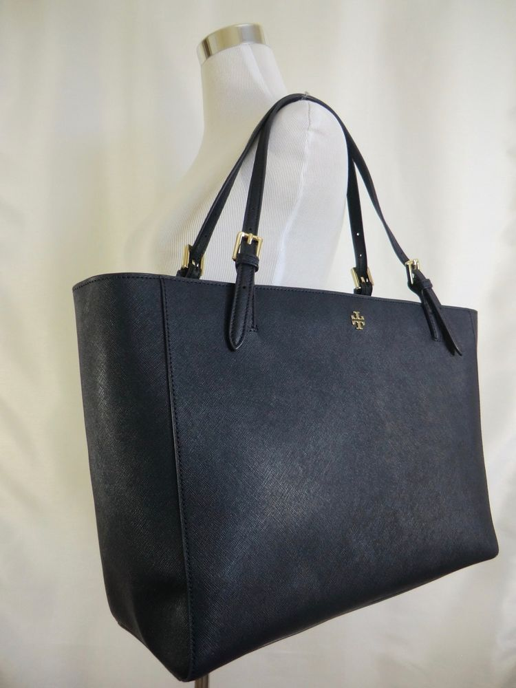 470f8d7117a6 Tory Burch York Buckle Large Tote Navy Blue Saffiano Leather Laptop  295  NWOT  ToryBurch  TotesShoppers