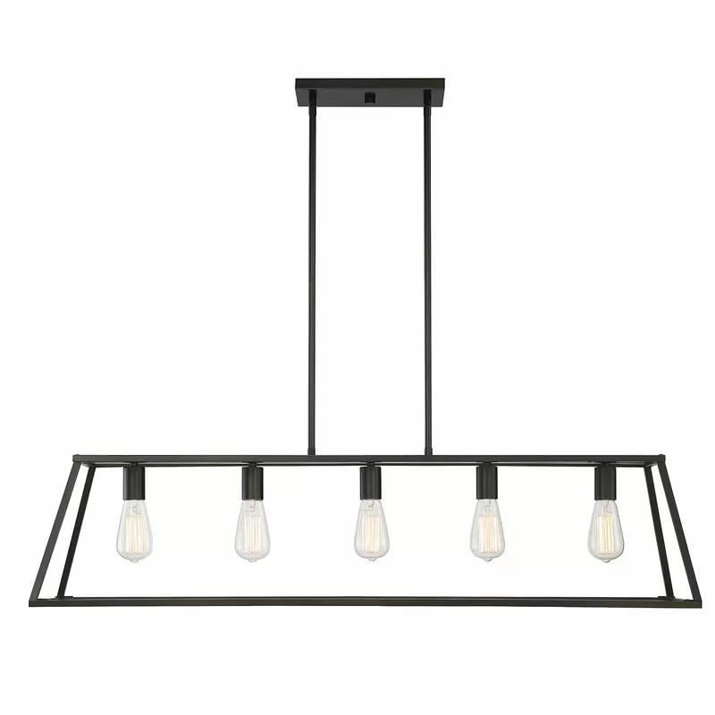 Vallejos 5 Light Kitchen Island Linear Pendant Kitchen Lighting Linear Pendant Lighting Kitchen Island Pendants