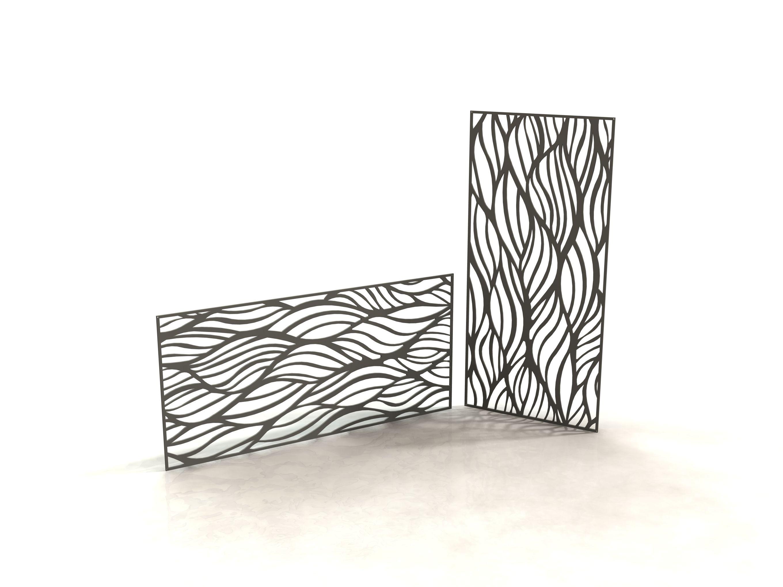 wave panneau design d coupe laser laser cut panels racken racken metal made in france. Black Bedroom Furniture Sets. Home Design Ideas