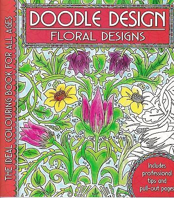 #Floral designs (doodle #design) new anti-stress #adult colouring flowers p/b boo,  View more on the LINK: 	http://www.zeppy.io/product/gb/2/291562157632/