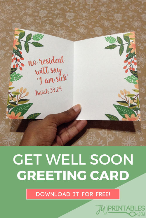 FREE JW Get Well Soon Card | Free Jehovah's Witness