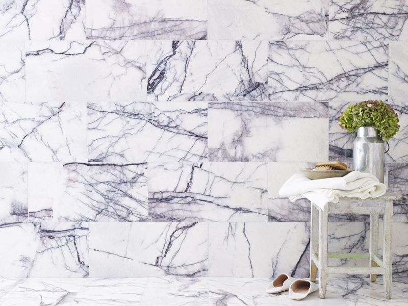 Calacatta Viola Polished Marble A Real Show Stopper An Off White Base Colour With Striking Polished Marble Tiles Marble Tile Bathroom Floor Marble Wall Tiles