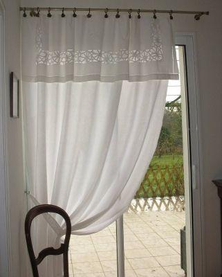 drap ancien - - vous avez cousu ou customisé vous-même vos rideaux