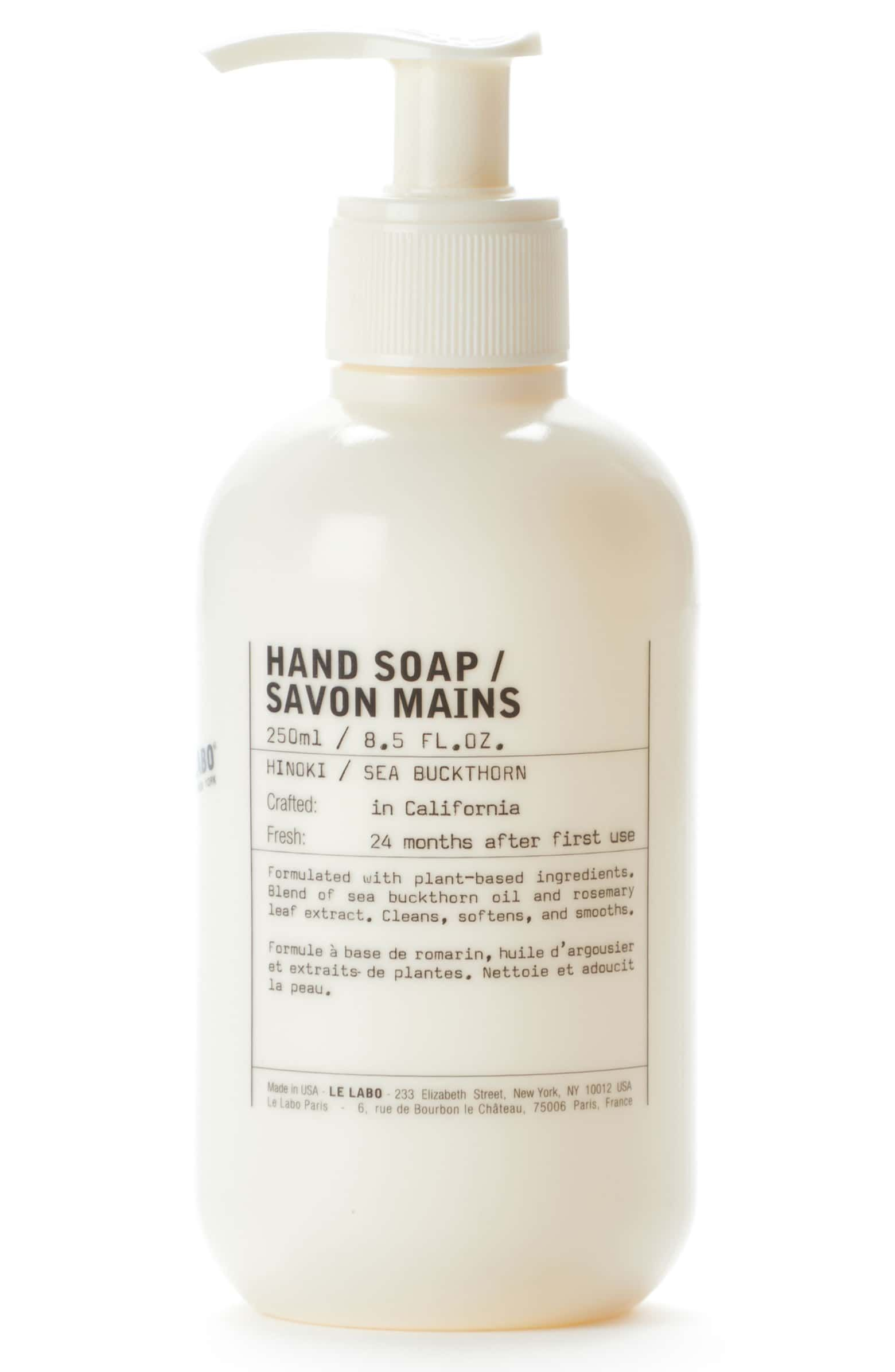 Le Labo Hand Soap Main Color No Color Hand Lotion Moisturizing Hand Soap Basil Hand Soap