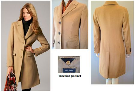 Womens Camel Cashmere Coat - Coat Nj