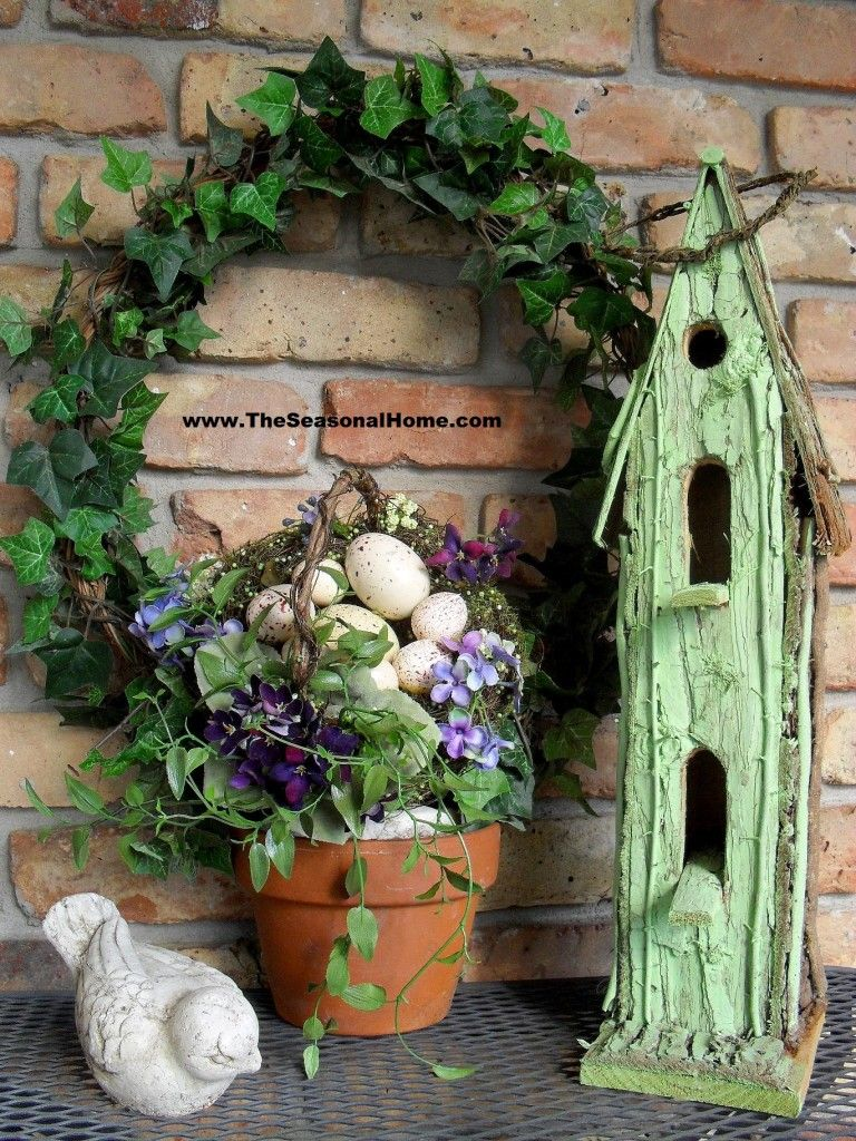 EASTER EGG TOPIARY « The Seasonal Home   Easter and Spring ...