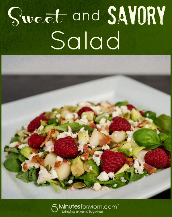 Sweet and Savory Salad Recipe  The sweetness of raspberries mixed with the savory perfection of bacon make this salad so delicious every member of your family will chant for salad night.
