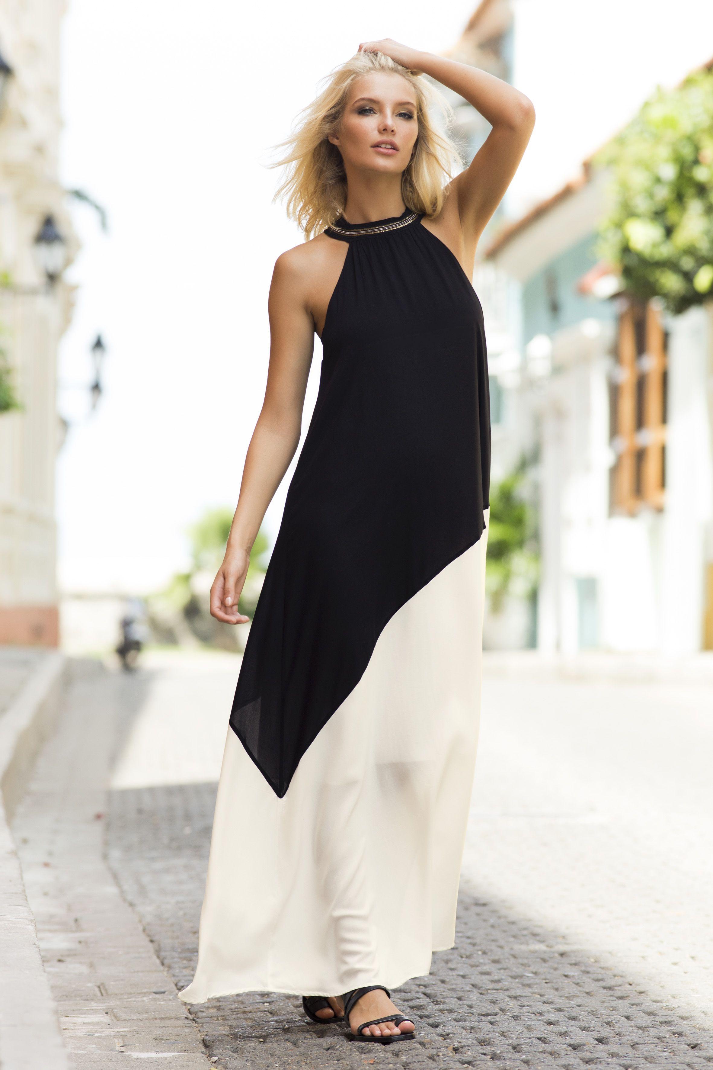 M co long dresses online