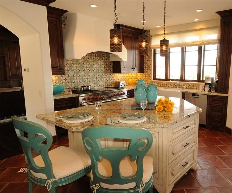 Old World Kitchen Design In New Spanish Colonial Homejpg