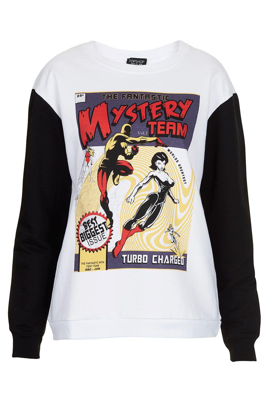 MYSTERY COMIC SWEAT Topshop price: £25.00 | SS 2013: Make