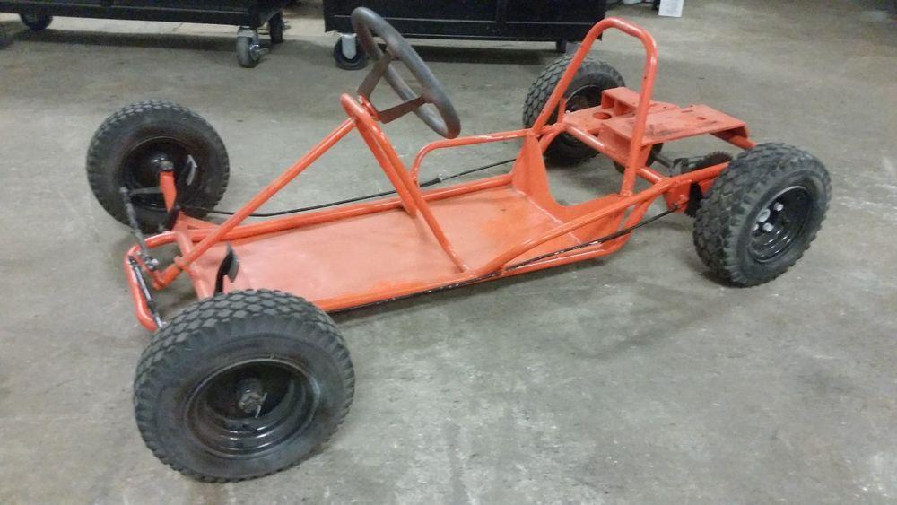Vintage McCullough go kart racing kart rolling chassis frame ...