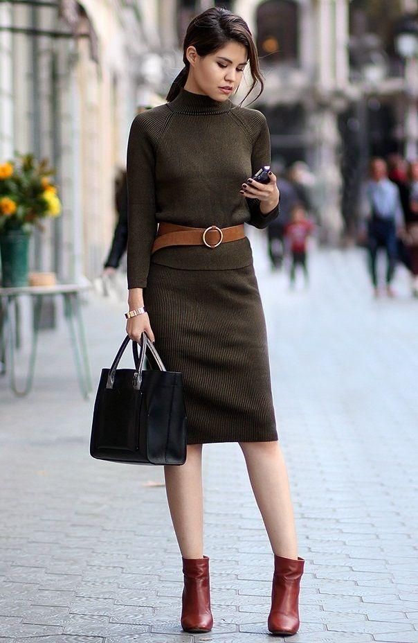Вязаная мода юбки