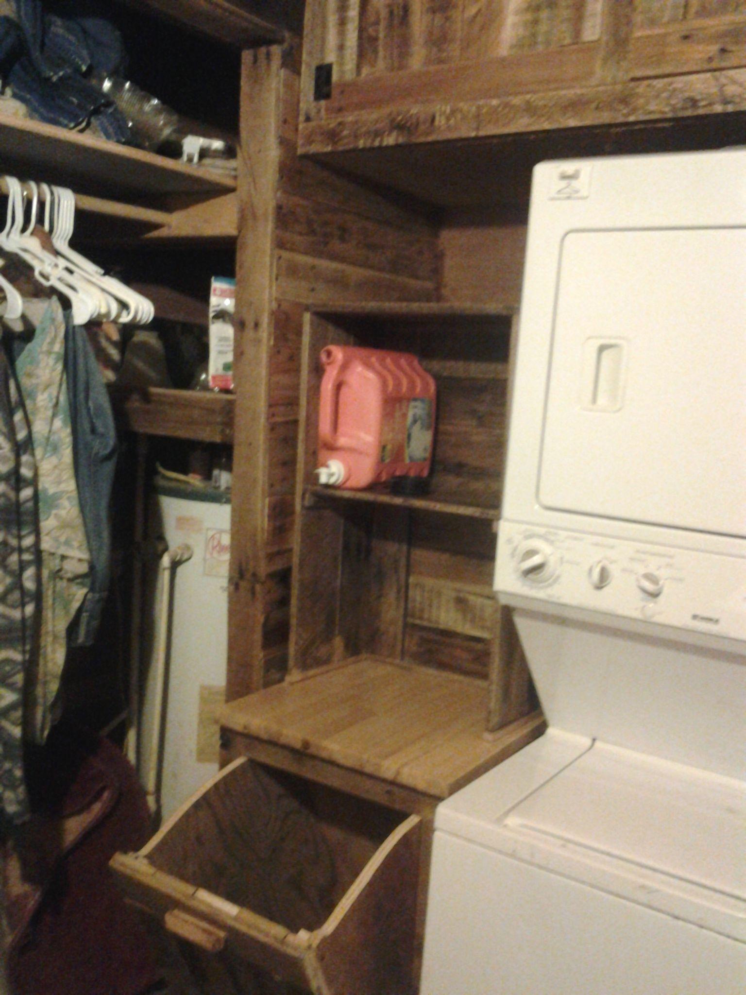 The Little Folding Table\hamper And Shelves.