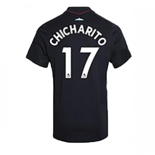 best sneakers fe0c9 54c1a 17-18 West Ham United Away Black CHICHARITO #17 Soccer ...