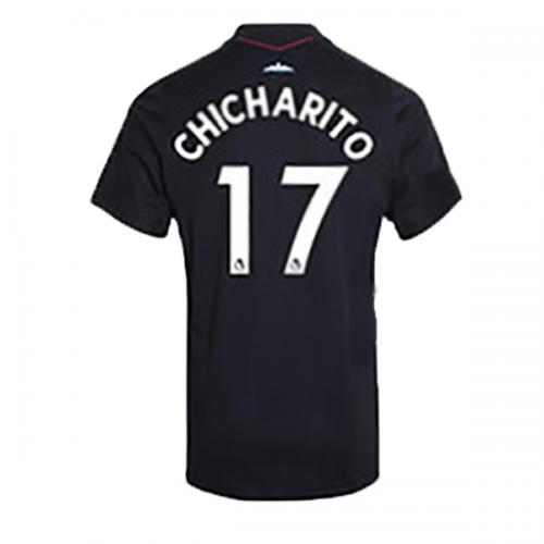 best sneakers 5c0d1 9e322 17-18 West Ham United Away Black CHICHARITO #17 Soccer ...