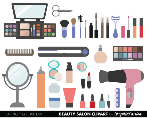 Beauty Collection Digital Clipart Cosmetic Clipart Girly clipart
