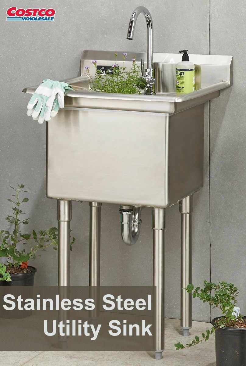 Costco Wholesale Garage SinkUtility SinkStainless Steel