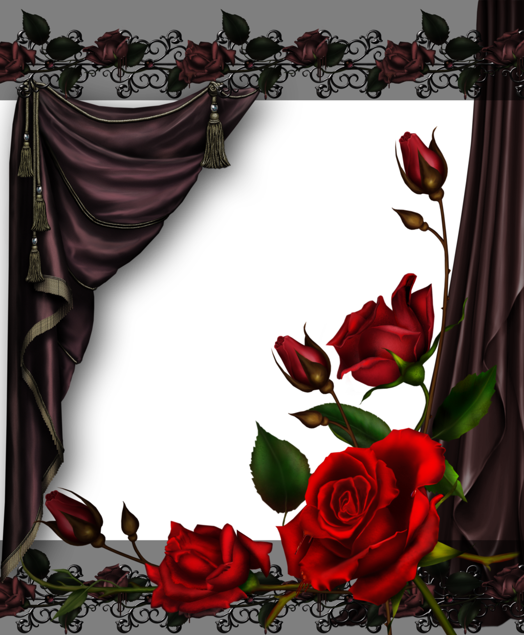 Curtains and Roses by collect-and-creat.deviantart.com on ...