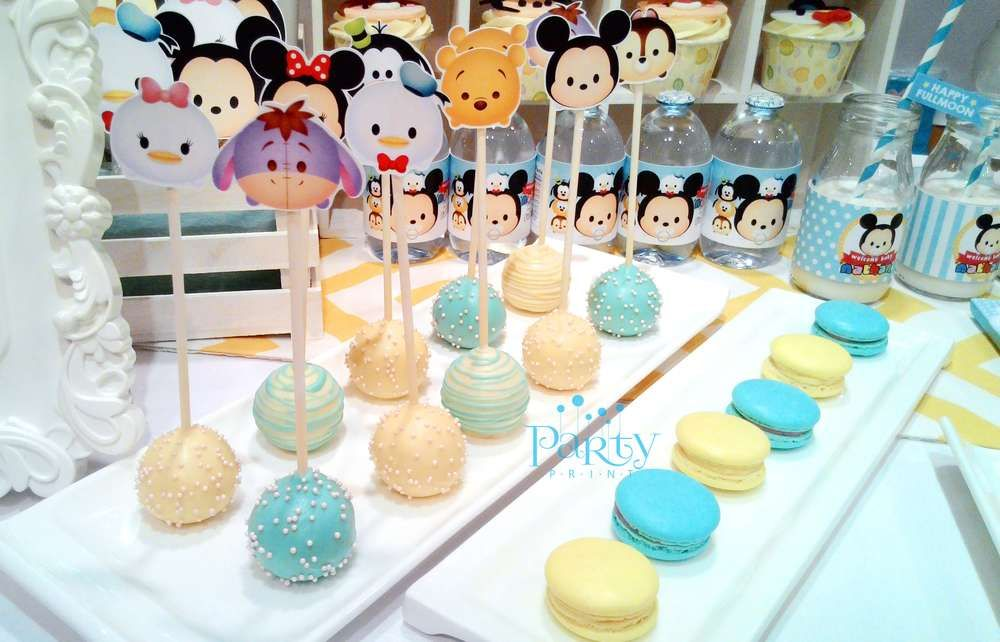 Disney Tsum Tsum Baby Shower Party Cake Pops See More Party Planning -5955