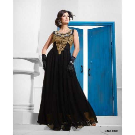 Black and Gold Designer Gown