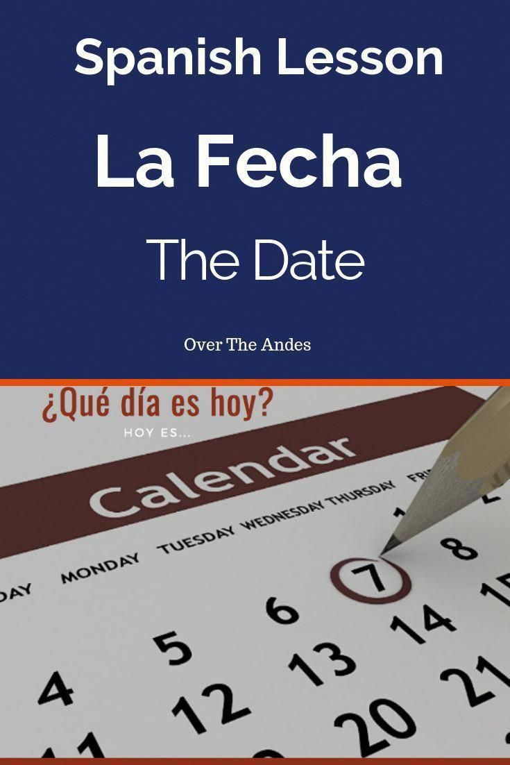 Beginners spanish lesson on the date in spanish la